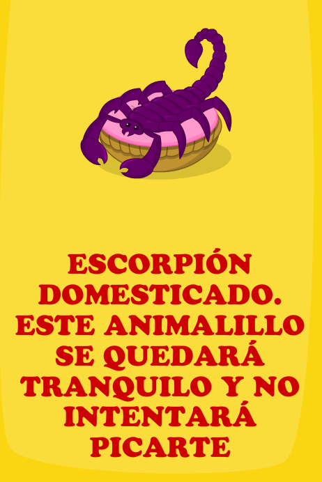 Escorpión domesticado