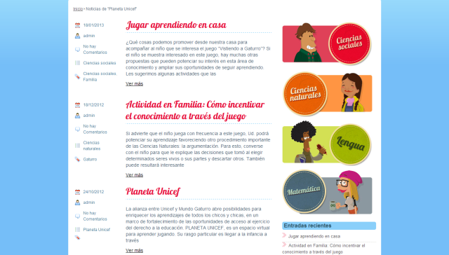 Blog Mundo Gaturro en familia