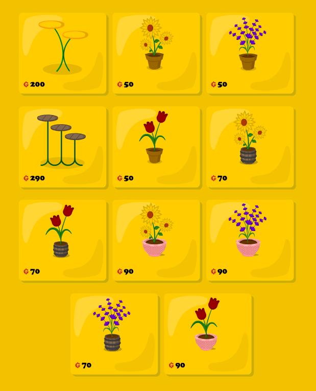 Catálogo de nuevas Flores