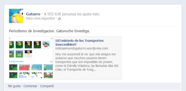 Mi informe de los Transportes Inaccesibles en Facebook!