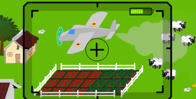 Avión fumigando los cultivos