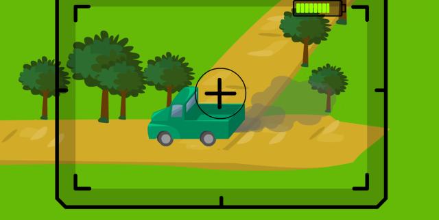 Camión contaminando el aire