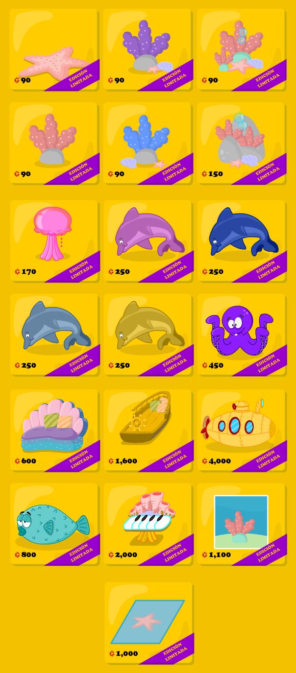 Catálogo subacuático