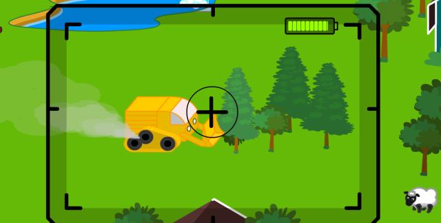 Máquina arrasando los árboles