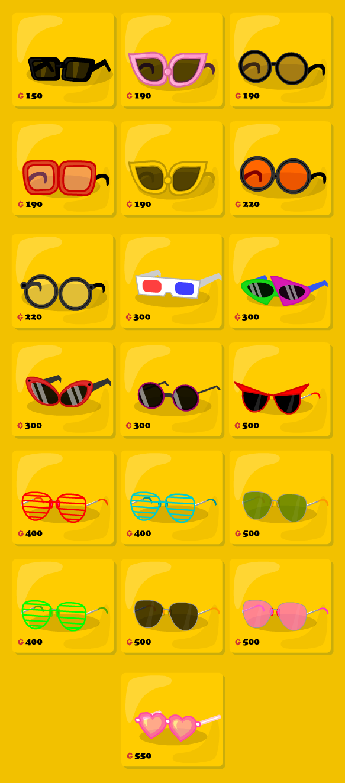 Catálogo de anteojos