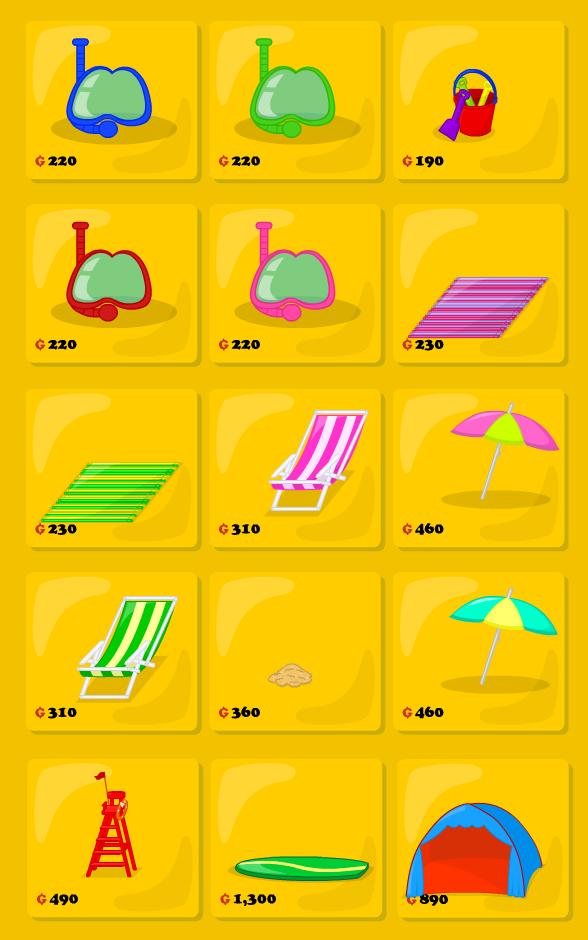 Catálogo de playa